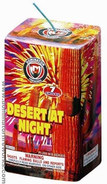 Fireworks - 200G Multi-Shot Cake Aerials - Desert at Night