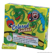 Fireworks - Snakes Fire work For Sale On-line - The classic favorites! Non-explosive so no min order and lower shipping rates!  - Snakes - color