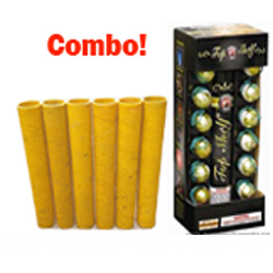 Fireworks - Reloadable Artillery Shells - Top Shelf Artillery Mortar Combo