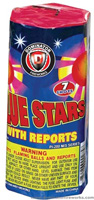 Blue Stars w/ reports Fireworks For Sale - 200G Multi-Shot Cake Aerials