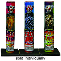 No. 200 Mortar Tube Fireworks For Sale - Single Shot Aerials