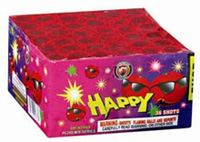 36 Shot Happy Fireworks For Sale - 200G Multi-Shot Cake Aerials