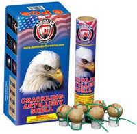 Dominator - CRACKING ARTILLERY SHELL Fireworks For Sale - Reloadable Artillery Shells