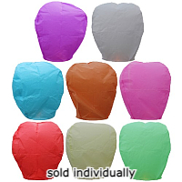 Sky Lanterns - Mixed Colors Fireworks For Sale - Novelties