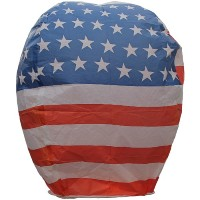 Sky Lanterns - USA Flag Fireworks For Sale - Novelties