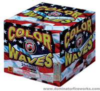 Color Waves - 500g Cake Fireworks For Sale - 500g Firework Cakes