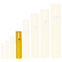 4in Fiberglass Mortar w/ Plug Fireworks For Sale - Fiberglass Mortar Tubes & supplies