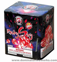 Ruby Sky Fireworks For Sale - 200G Multi-Shot Cake Aerials