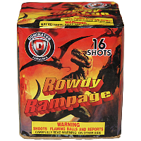Rowdy Rampage Fireworks For Sale - 200G Multi-Shot Cake Aerials