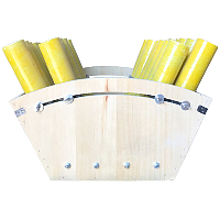 24 Shot Adjustable Mortar Rack Fireworks For Sale - Fiberglass Mortar Tubes & supplies