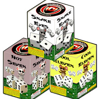 Three Blind Dice Fireworks For Sale - 200G Multi-Shot Cake Aerials