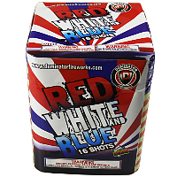 Red White and Blue Fireworks For Sale - 200G Multi-Shot Cake Aerials