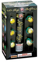 Top Shelf - 6 shot - Artillery Shells Fireworks For Sale - Reloadable Artillery Shells