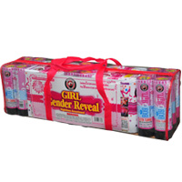 Gender Reveal - Nighttime Assortment - Girl Fireworks For Sale - 200G Multi-Shot Cake Aerials