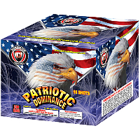 Patriotic Dominance - 500g Cake Fireworks For Sale - 500g Firework Cakes