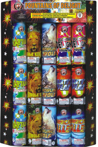 Fountains of Delight Assortment Fireworks For Sale - Safe and Sane