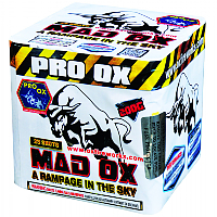 Mad Ox - A rampage in the sky 200g Cake Fireworks For Sale - 200G Multi-Shot Cake Aerials