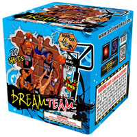 Dream Team 200g Cake Fireworks For Sale - 200G Multi-Shot Cake Aerials