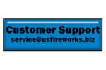 Customer Support e-mail button.   USFireworks.biz cusotmer support  service@usfireworks.biz