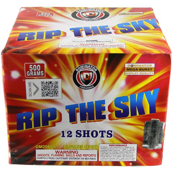 Buy Fireworks Online - Rip The Sky - 500g Cake